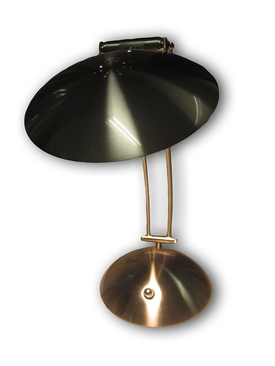 Bordlampe i metal