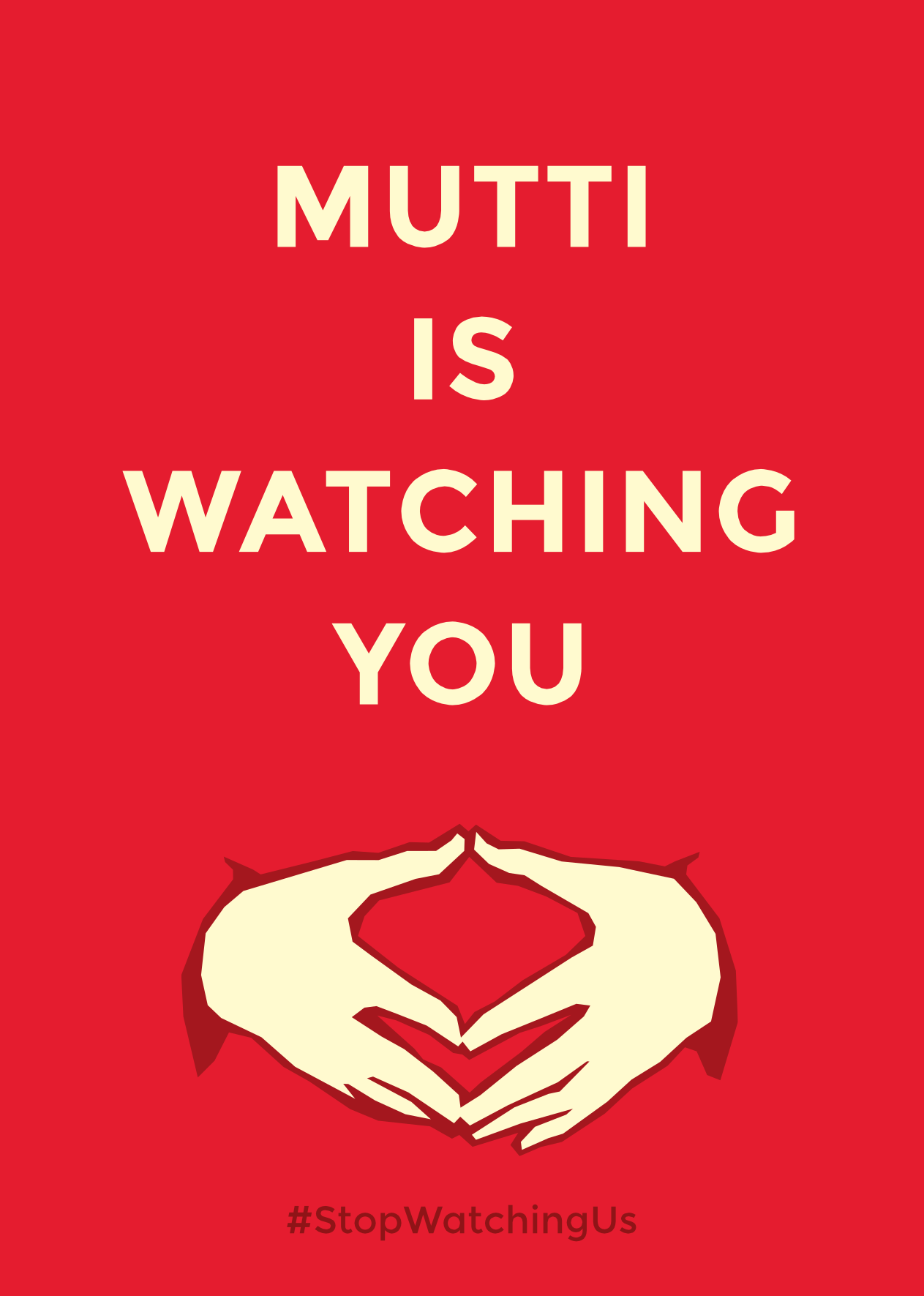 Mutti is watching you plakat