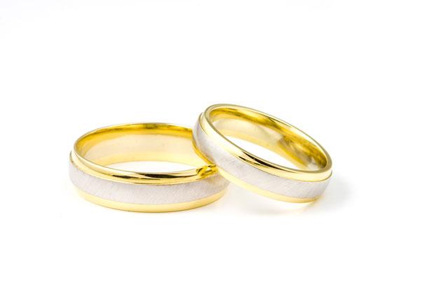Ringe af guld og sølv, vielsesringe og forlovelsesringe
